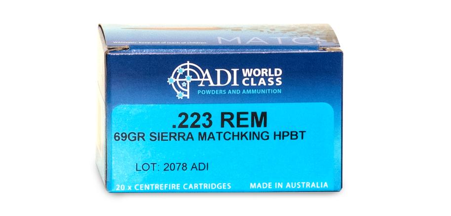 .223 REM – 69gr Sierra HPBT MatchKing