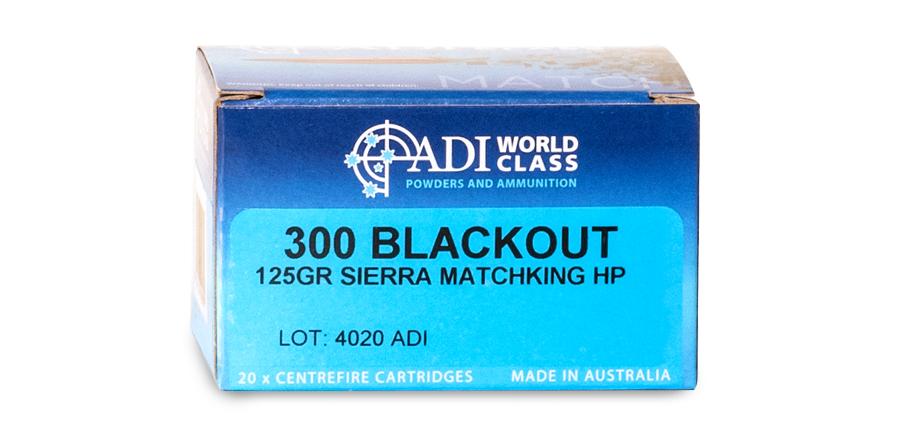 300 BLK 125gr Sierra HP MatchKing